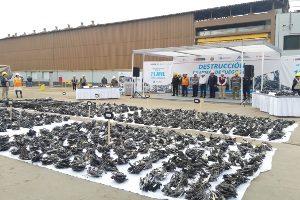 La Sucamec realiza mayor destrucción de armas decomisadas de su historia