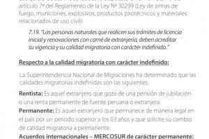 Obtención de licencias para uso de armas de fuego por parte de ciudadanos extranjeros
