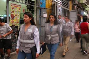 Realizan operativo en Gamarra para  prevenir venta ambulatoria de pirotécnicos