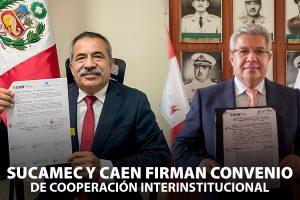 Sucamec suscribe convenio marco de cooperación institucional con el CAEN